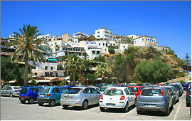 Agia Galini: View of the village from the port
